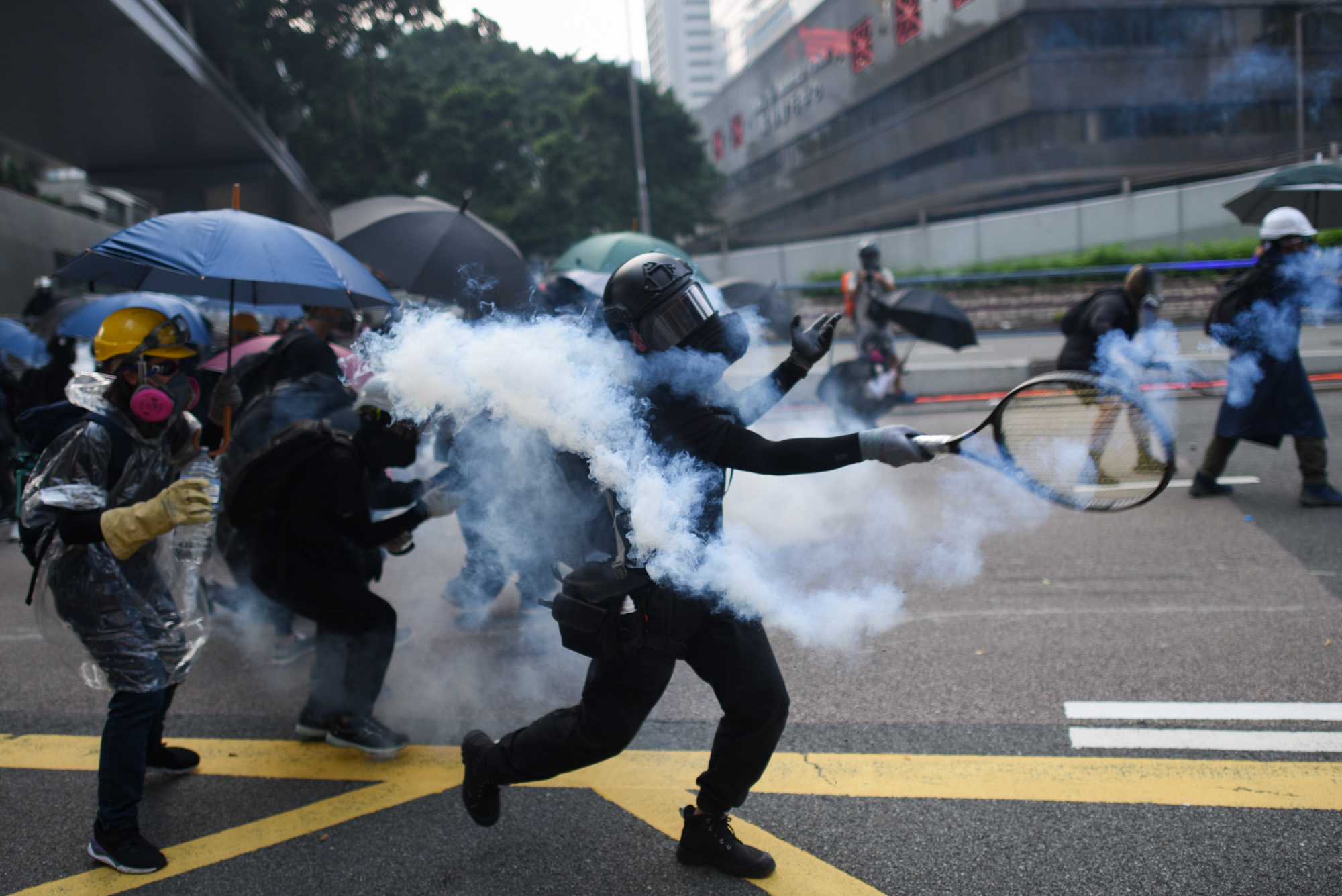 Hong Kong protest clashes